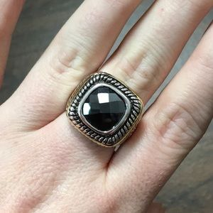 Jewelry - NEW ♊️ SS Onyx Ring